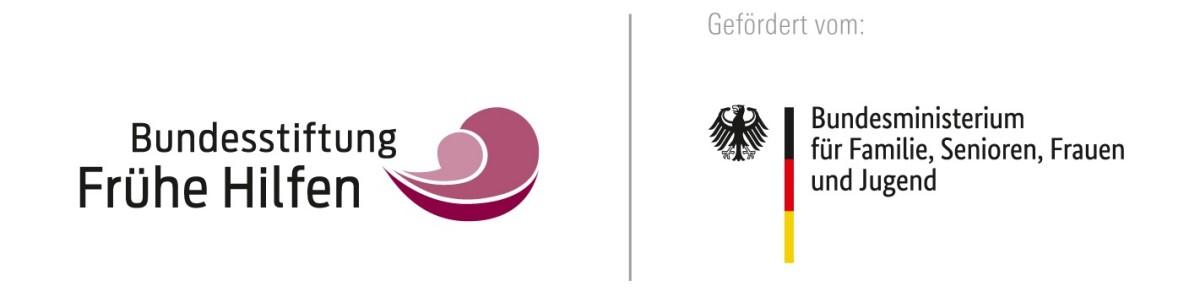 Logos der Bundesstifung Frühe Hilfen und des Bundesministeriums Familien, Senioren, Frauen und Jugend